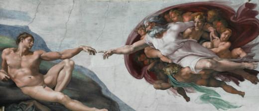 God gestures for Adam to pull his finger.