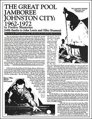 "Snap Magazine Article ""Johnston City"", or what content looks like"