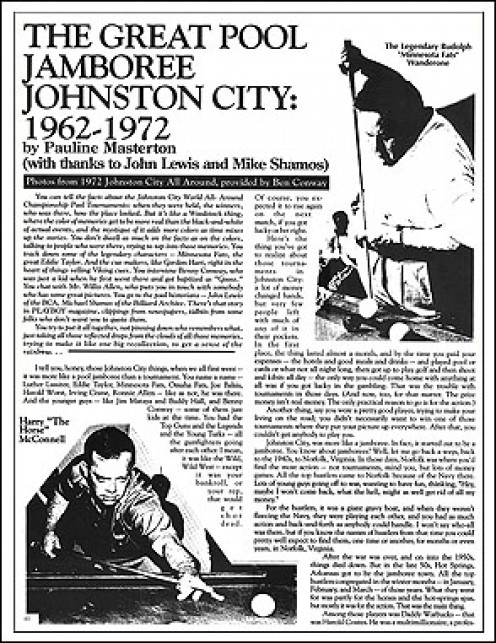 """Snap Magazine Article """"Johnston City"""", or what content looks like"""