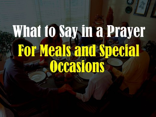 This is a good quick reference to get an idea of what to say in a prayer when you're put on the spot to do the honors at a meal or any other special occasion.