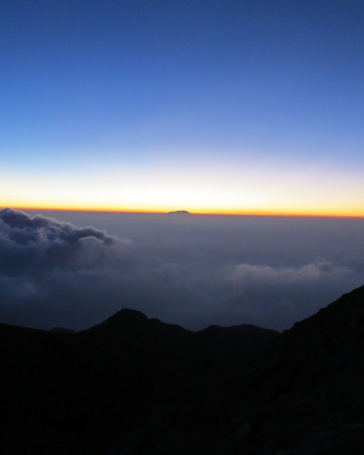 Sunrise at Merapi.