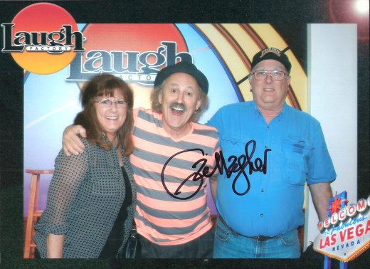 My wife & I with Gallagher at the Laugh Factory