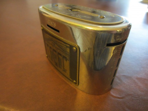 Old fashioned coin bank.