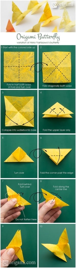 Quick, grab a piece of paper and try to make a simple origami butterfly