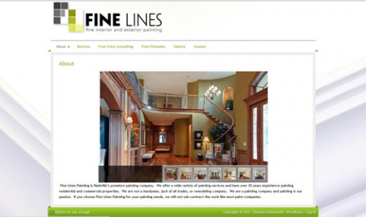 Painting company website sample.