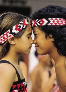 Maori hongi (Maori kiss)