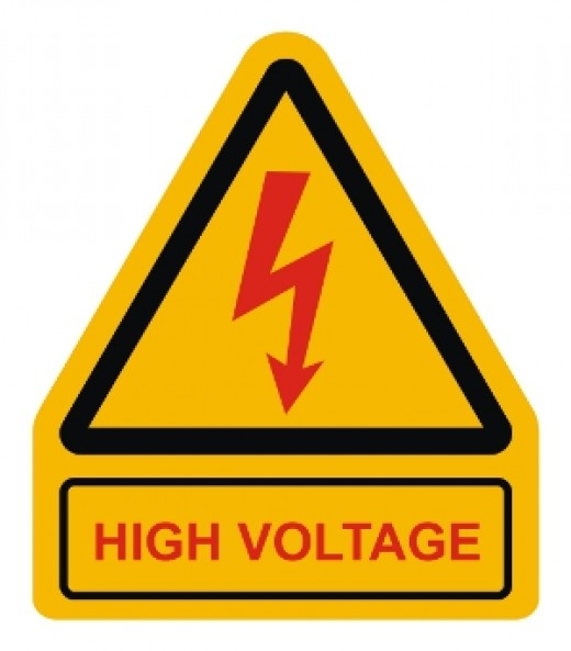 High Voltage Warning Plate