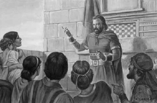 Mormon Teaching the Wicked Nephites
