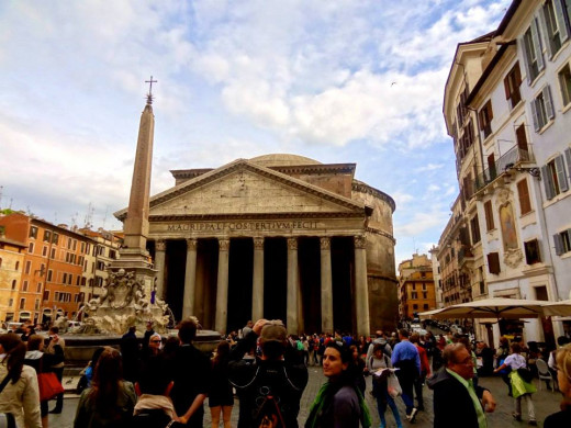 The fountain in front of the Pantheon is pretty impressive as well.
