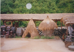 """Kimchi and food huts at """"old Korea Town"""""""