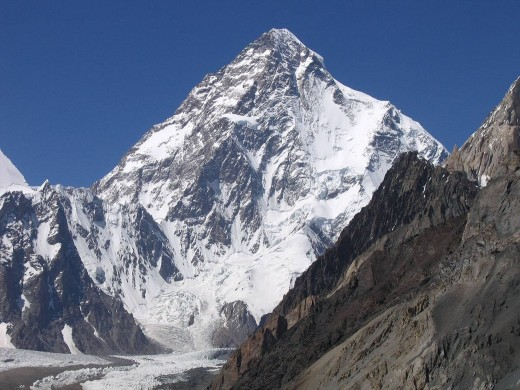 Mount K2 with a height of 8611 meters is second Highest in the world.