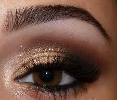 Brown eyes should have a splash of colours like gold, silver or blue to brighten the eyes