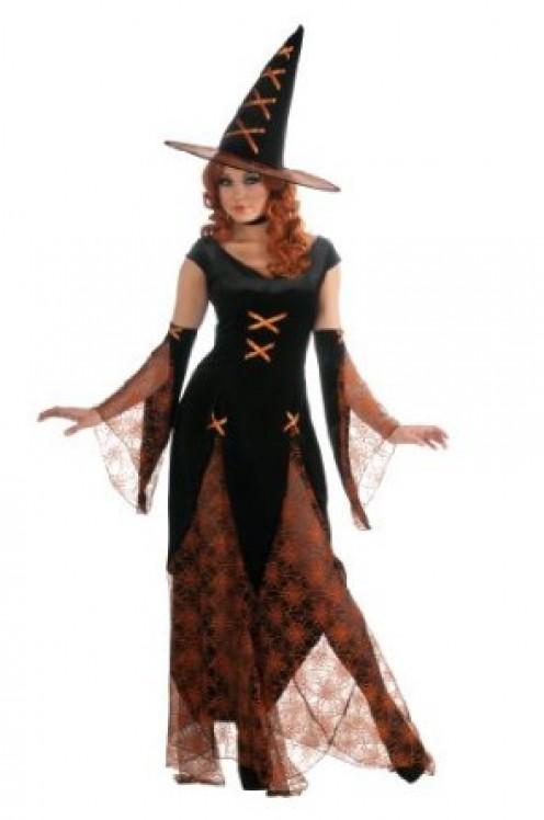 Rubie's Costume Huntsman's Witch Adult Costume - Black & Orange Color