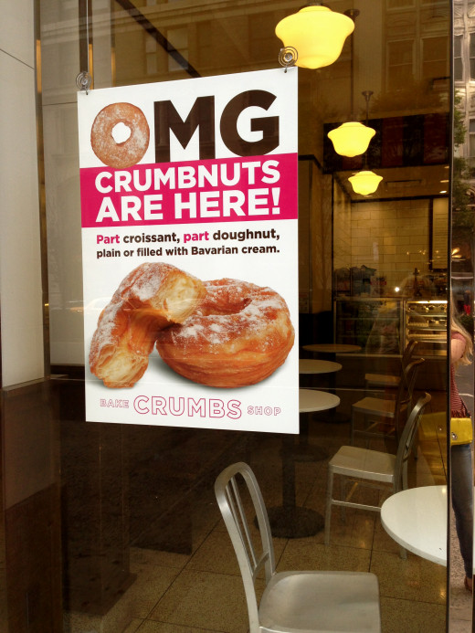 Holy moly!  Even cupcake chain Crumbs is selling knock-off cronuts.