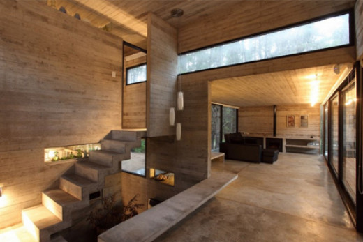 Concrete sealer hubpages for Half concrete half wood house design