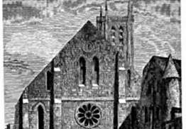The Abbey of St. Genevieve before being rebuilt as the Pantheon.