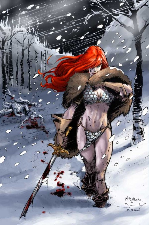 Red Sonja Fur Coat