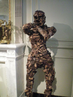 A statue made of chocolate - a Bruges specialty!