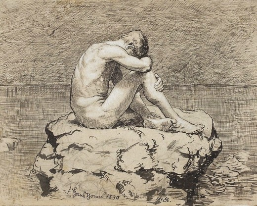 Thoma Loneliness.jpg 1880 Hans Thomas (1839-1924) CC-PD-Mark