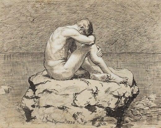 Thoma Loneliness.jpg 1880 Hans Thomas (1839-1924) CC-PD-Mark