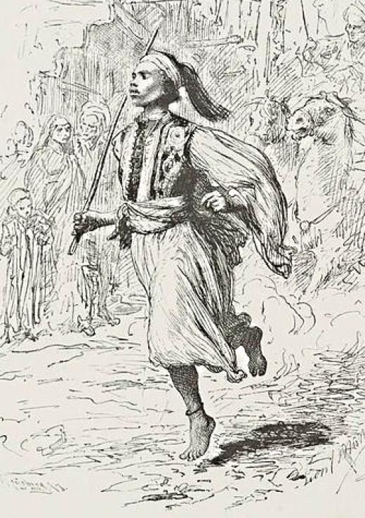 African Runner - barefoot