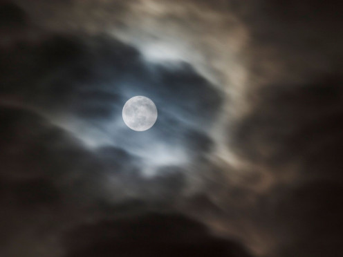 Misty orb of gloom ~ Haunting White Moon