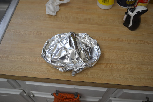 Cover with aluminum foil.