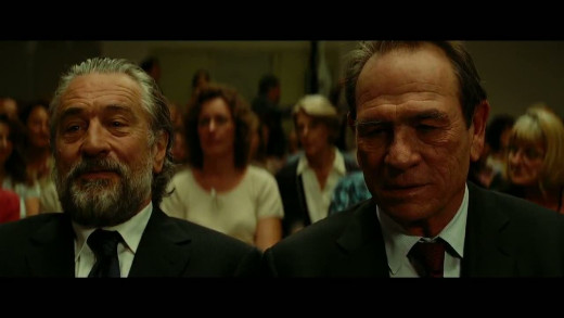 Robert DeNiro is a mob boss in witness protection and Tommy Lee Jones is the marshal assigned to protect him in the dramedy The Family