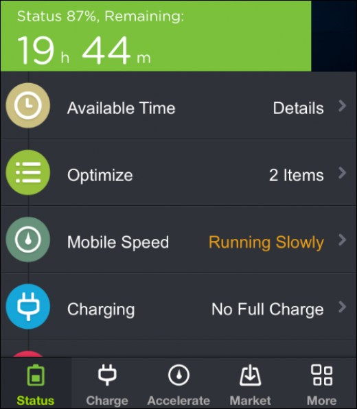 Battery Doctor app for both IOS and Android