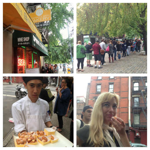 The line for cronuts was longer that I expected but it was totally worth it.  I even got to sample a yummy mimi Madeline!