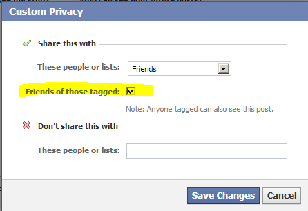 """This is a bug. Instead of selecting Friends from drop down box, select custom and then Friends to uncheck this """"Friends of Those Tagged"""""""