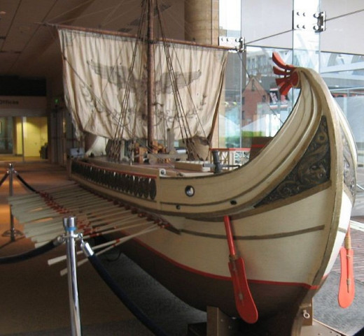"This Replica of an ancient Roman trireme is one of the original ships used in the movie ""Ben Hur."""