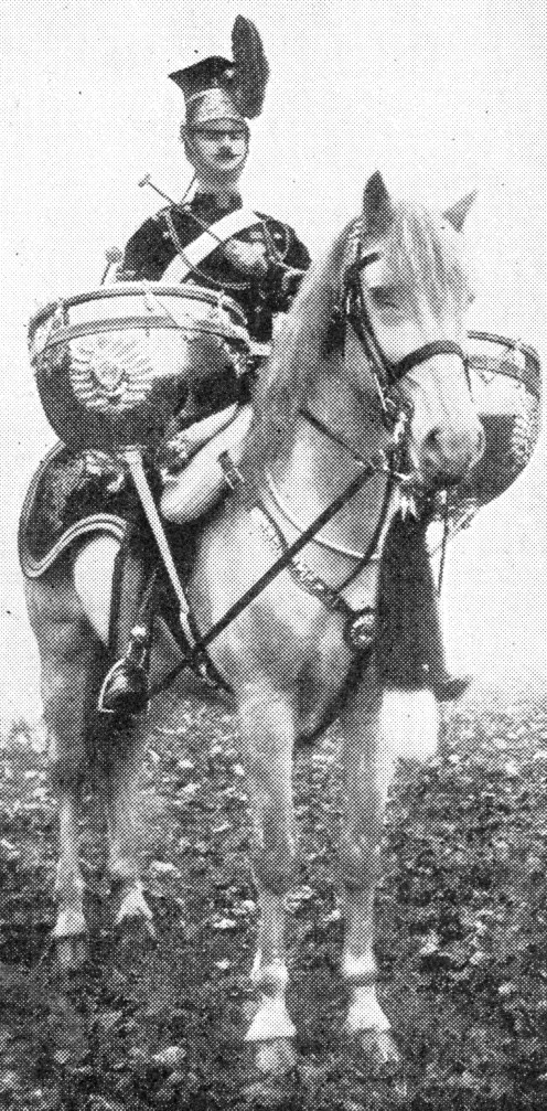 Drummer of the 9th Lancers in parade dress