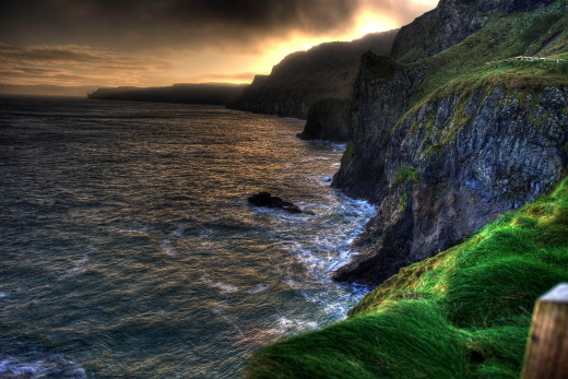 Ballintoy cliffs on Ulster's wild Atlantic shore, Northern Ireland