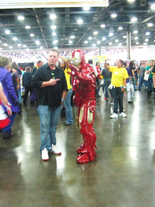 Iron Man Cosplayer at Wizard Con Comic Con in Columbus, OH