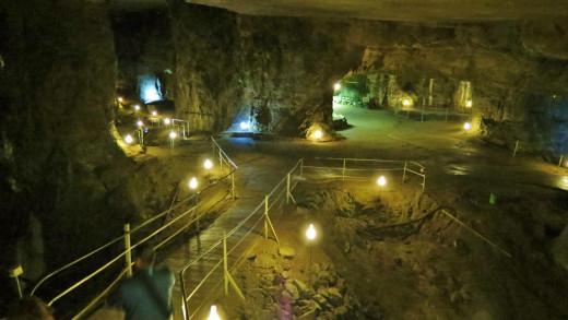 Deep inside Bonne Terre Mine