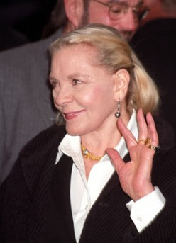 """I have always admired Lauren Bacall"" At age 84 she still has the poise and grace I have always admired about her"