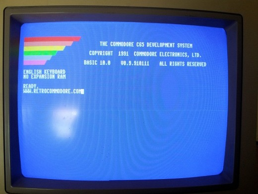 If you were to switch on a Commodore 65 you would be greeted with this screen