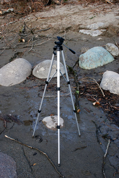For steady shots every time a tripod is essential
