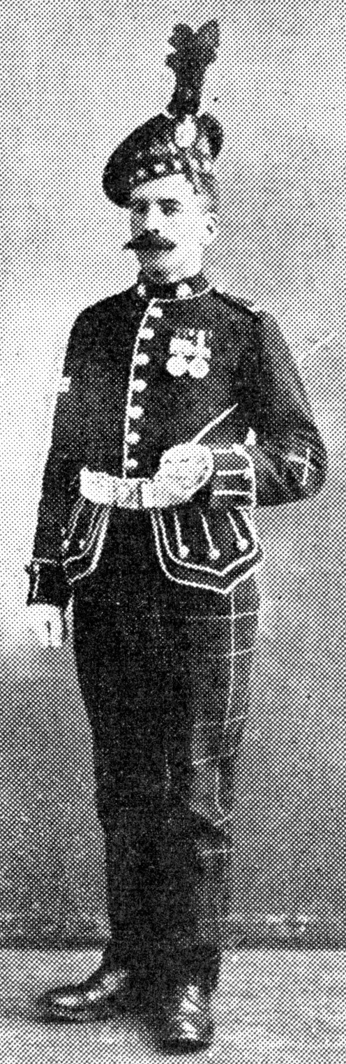 Corporal of the King's Own Scottish Borderers in parade uniform.