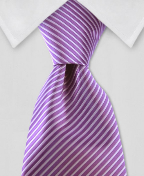 Purple and Lilac striped tie