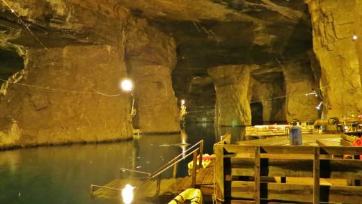 Bonne Terre Mine's Subterranean Boat Dock