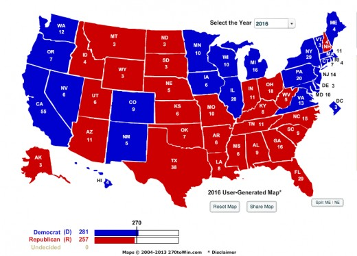 Potential Electoral Map For Nikki Haley. This is assuming she is up against a Democratic candidate.