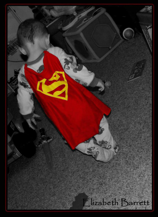 My son is my superhero