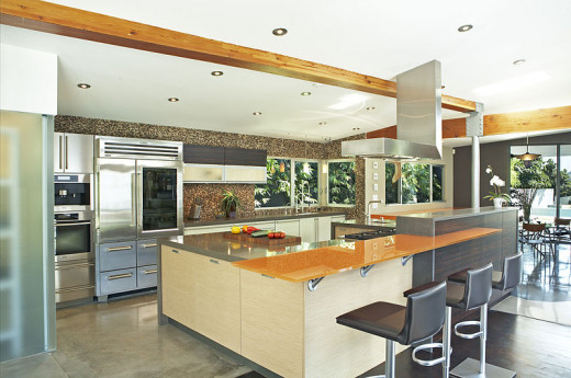 Open kitchen design designed to be a social environment not just a place to cook food