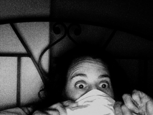 Do you look like this when you're watching scary movies?