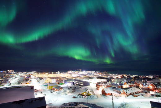 Greenland Flourished in Northern Lights