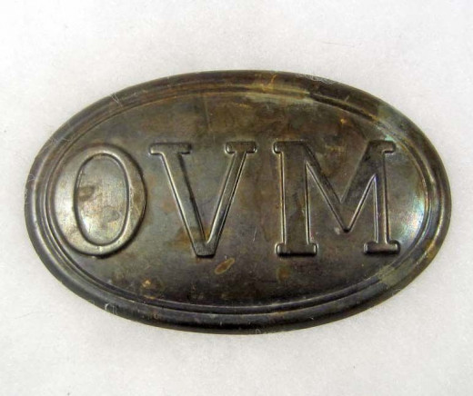 Brass Belt Buckle for a member of an Ohio Volunteer Militia unit