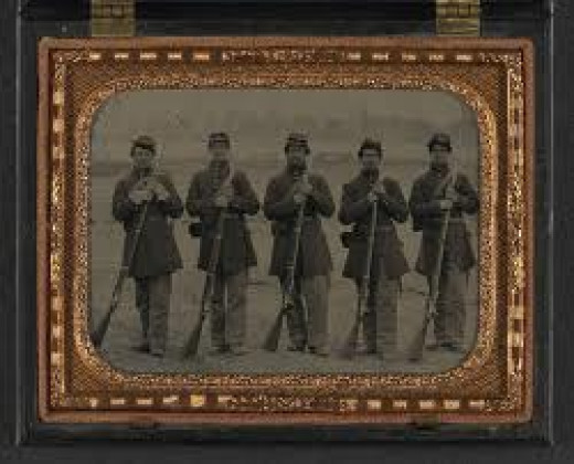 Five members of the 6th Regiment, Massachusetts Militia