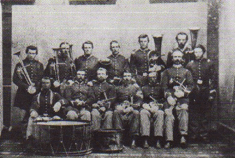 Brass Band members of the California Militia